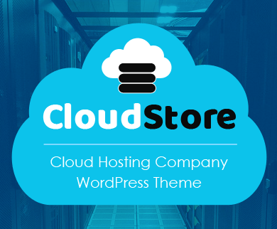 CloudStore - Cloud Hosting Company WordPress Theme