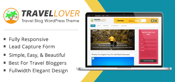 Travel Blog WordPress Theme