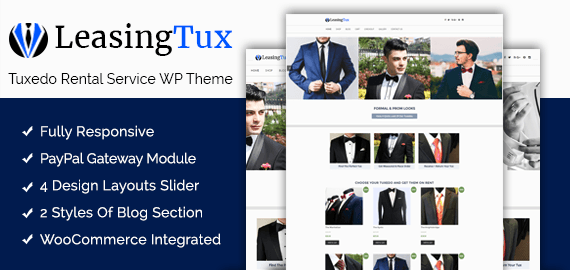 Tuxedo Rental Service WordPress Theme