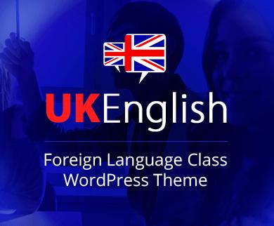 UKEnglish - Foreign Language Class WordPress Theme