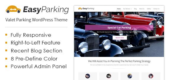 Valet Parking Service WordPress Theme