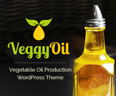 VeggyOil - Vegetable Oil Production WordPress Theme