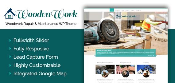 Woodwork Repair And Maintenance WordPress Theme