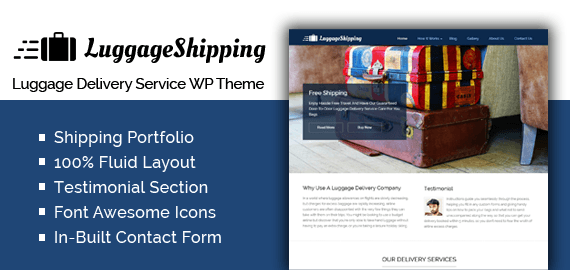 Luggage Delivery Service WordPress Theme