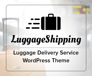 LuggageShipping - Luggage Delivery Service WordPress Theme