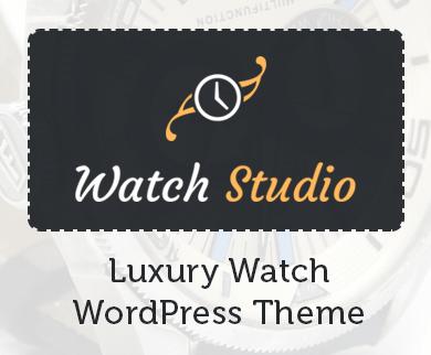 Watch Studio - Luxury Watch WordPress Theme