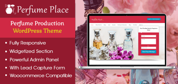 Perfume Production WordPress Theme