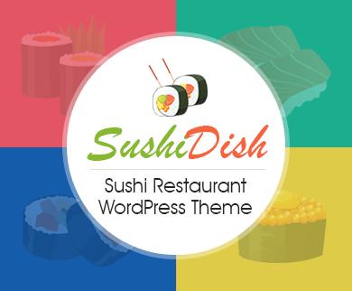 SushiDish - Sushi Restaurant & Lounge WordPress Theme