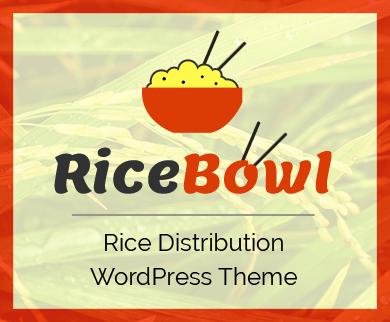 RiceBowl - Rice Distribution WordPress Theme
