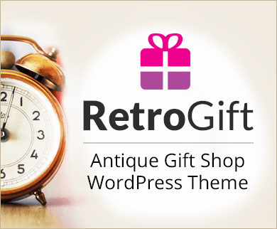 RetroGift - Antique Gift Shop WordPress Theme