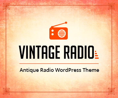 VintageRadio - Antique Radios WordPress Theme