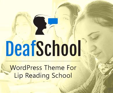 DeafSchool - Lip Reading School WordPress Theme