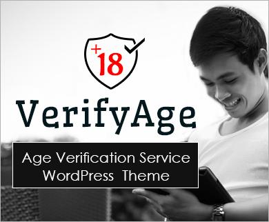 VerifyAge - Age Verification Service WordPress Theme