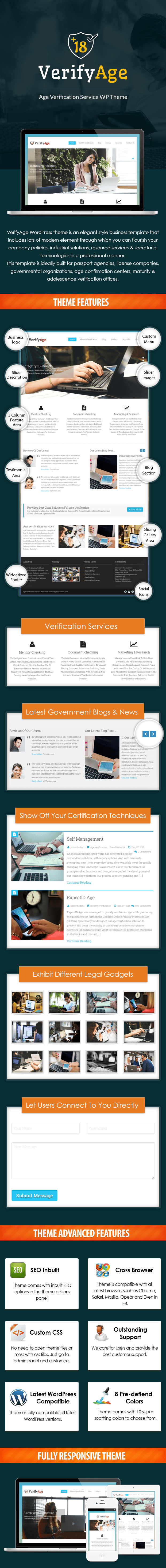 Age Verification Service WordPress Theme