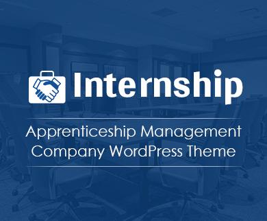 Internship - Apprenticeship Management Company WordPress Theme