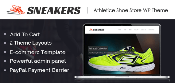 Athletic Shoe Store WordPress Theme