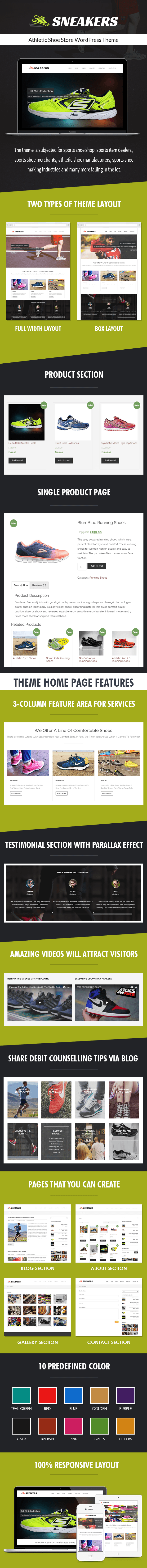 Athletic Shoe Store WP Theme