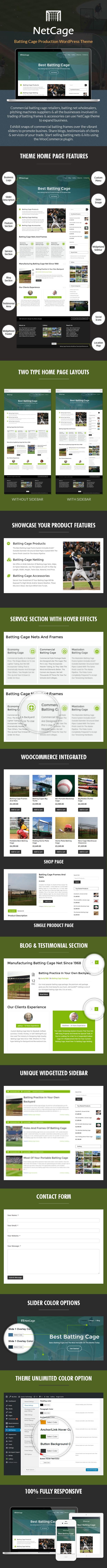 Batting Cage Production WordPress Theme