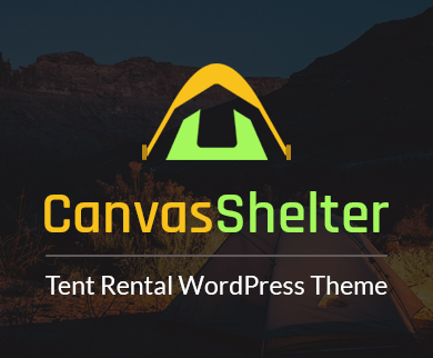 CanvasShelter - Tent Rental Service Providers WordPress Theme