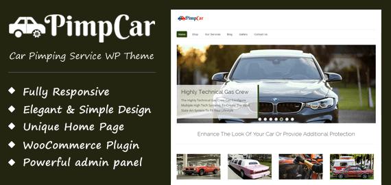 Car Pimping Service WordPress Theme
