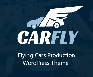 CarFly - Flying Cars Production WordPress Theme