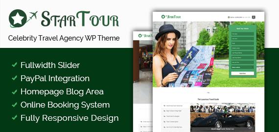 Celebrity Travel Agency WordPress Theme