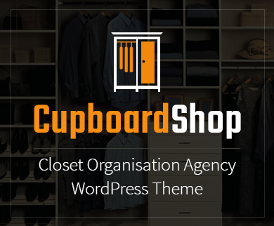 Cupboard Shop - Closet Organisation Agency WordPress Theme