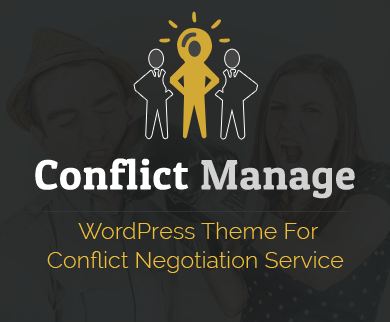 Conflict Manage - Conflict Negotiation Service WordPress Theme
