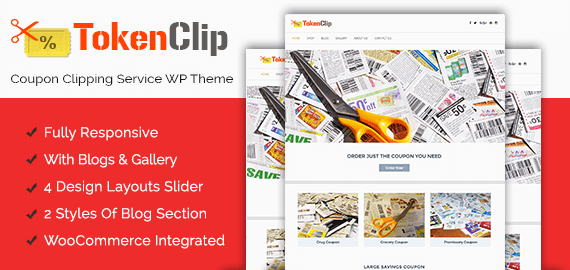 Coupon Clipping Service WordPress Theme