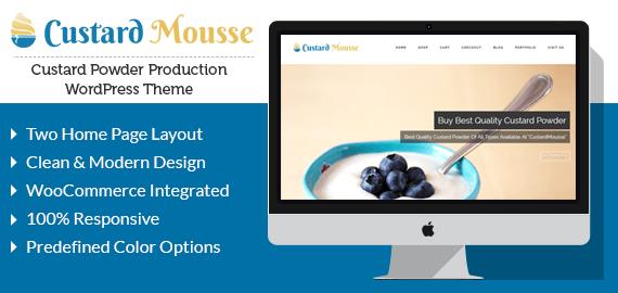 Custard Powder Production WordPress Theme