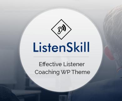 ListenSkill - Effective Listener Coaching WordPress Theme