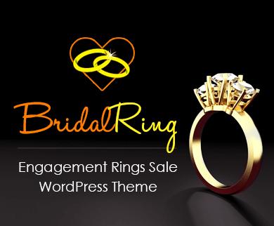 BridalRing - Engagement Rings Sale WordPress Theme