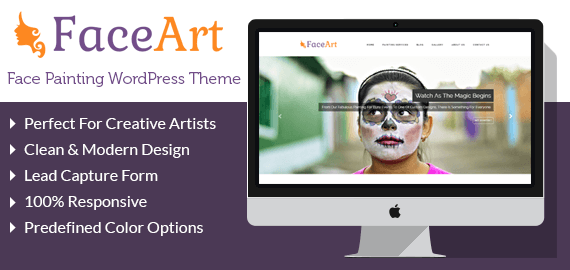 Face Painting WordPress Theme