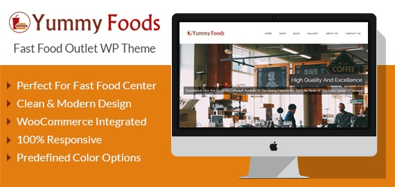 Fast Food Outlet Restaurant WordPress Theme