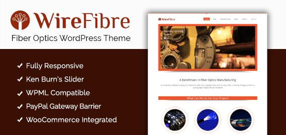 Fiber Optics Manufacturing WordPress Theme