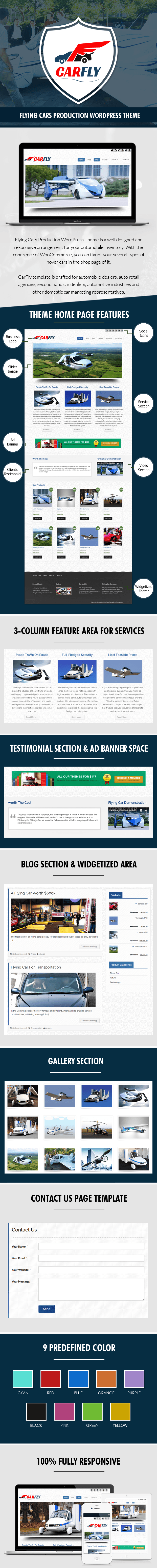 Flying Cars Production WP Theme