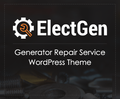 ElectGen - Generator Repair Service WordPress Theme