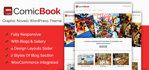 Graphic Novels & Comic Book WordPress Theme & Template | InkThemes