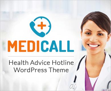 MediCall - Health Advice Hotline WordPress Theme