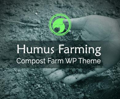 Humus Farming - Compost Farm WordPress Theme