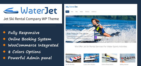 Jet Ski Rental Company WordPress Theme