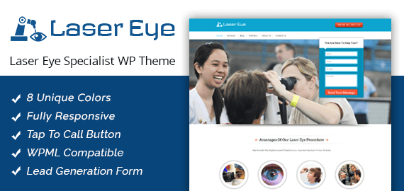 Laser Eye Specialist WordPress Theme