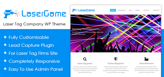 Laser Tag Company WordPress Theme