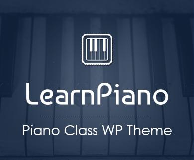 LearnPiano - Piano Class WordPress Theme
