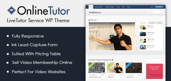 Live Tutor Service WordPress Theme