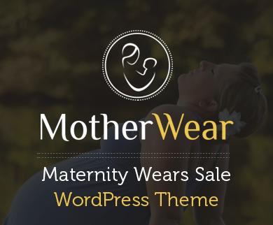 MotherWear - Maternity Wears Sale WordPress Theme