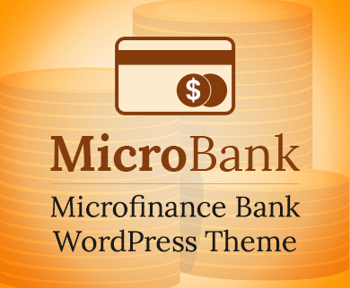 MicroBank - Microfinance Bank WordPress Theme