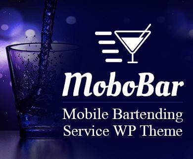 MoboBar - Mobile Bartending Restaurant Service WordPress Theme