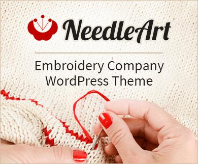 NeedleArt - Embroidery Company WordPress Theme