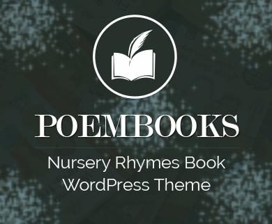 PoemBooks - Nursery Rhymes Book Wordpress Theme